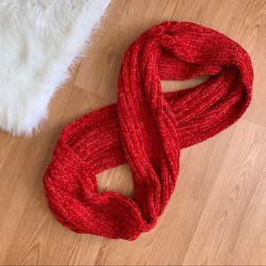 NY&C Soft Infinity Circle Scarf in Red Orange NWT
